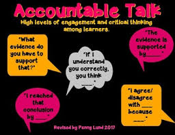 Accountable Talk Anchor Chart Accountable Talk Anchor Chart Task Cards Bookmark Common Core Aligned