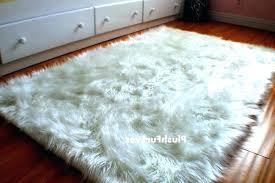 fur rug s cows faux sheepskin lamb mongolian blush 6 x 8 black grey