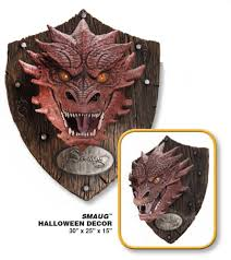 hobbit the smaug the dragon head trophy wall decor