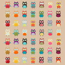 Owl Pattern Fascinating Cute Colorful Owl Pattern Vector Background Royalty Free Cliparts