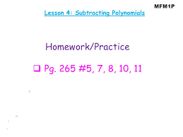 lesson 4 subtracting polynomials