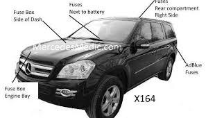 2013 Gl450 Fuse Chart Gl Fuse Chart 2007 2012 Diagram Chart Location X164 Mb Medic