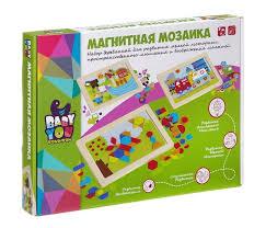 <b>Bondibon</b> Игра деревянная <b>магнитная мозаика Ферма</b> Bох ...