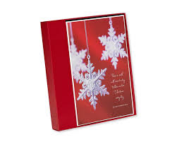snowflake ornaments boxed cards 14 count