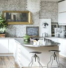 white kitchen tile floor. Black And White Tile Backsplash Kitchen Modern Lights Wicker Work Bar Stools Dark Concrete Flooring Granite Floor Three Subway