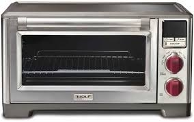 front view of the wolf countertop oven on a white isolated background