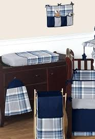 plaid baby bedding sets navy blue and grey plaid boys baby bedding crib set by sweet plaid baby bedding