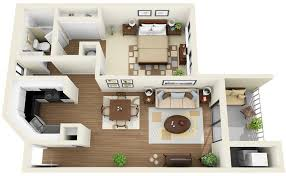 1 Bedroom Apartment House Plans Within Flat Prepare 2 ...