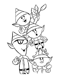 Christmas Elves Coloring Pages To Print L