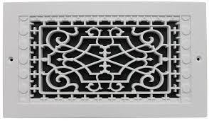 smi ventilation s victorian wall mount 6 in x 12 in opening 8 in x 14 in overall size polymer decorative return air grille white