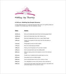 9 Wedding Agenda Templates Free Sample Example Format