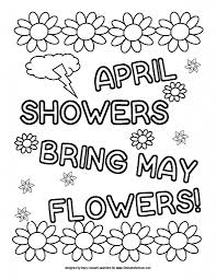 Small Picture April Showers Coloring Pages itgodme