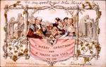 История открытки новогодние