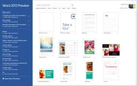 starting off right templates and built in content in the new word you