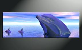 dolphin wall decor 1 piece canvas wall art aquatic wildlife pictures home decor dolphin wildlife wall wooden dolphin wall decor  on wooden dolphin wall art with dolphin wall decor 1 piece canvas wall art aquatic wildlife pictures