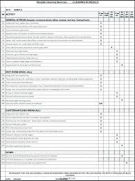 Cleaning Checklist Template Free Home Schedule Template Janitor Cleaning Hou Rvices Rvice Agreement