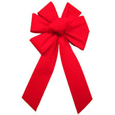 Red Velvet Bows - Outdoor Christmas Bows - Outdoor Bright Red ...