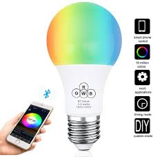 Hao Deng Lights Indarun Bluetooth Mesh Smart Light Bulb Dimmable 35 Watt Equivalent 350lm Wireless Phone App Controlled Multi Color 4 Channel Rgbw Led Bulb For