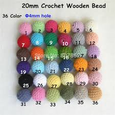 Chengkai <b>50pcs 20mm</b> Round Knitting Cotton Crochet Wooden ...