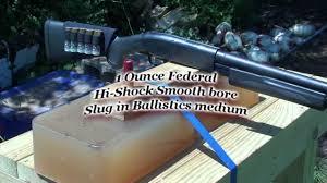 1 Ounce 12 Gauge Slug Fired Into Ballistic Gel