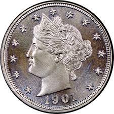1901 5c Pf Liberty Head Five Cents Ngc