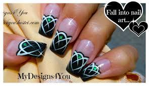 Celtic Nail Art Tutorial | Emerald Gem Nails | Tattoo Nails ...