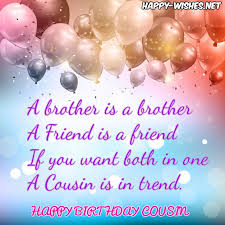 Happy Birthday Cousin Quotes New Happy Birthday Wishes For Cousin Quotes Images Memes Happy Wishes