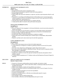 safety representitive safety representative resume samples velvet jobs