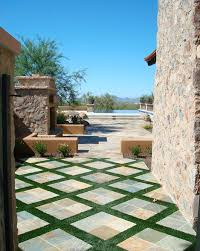 decorating outdoors with diamond and argyle patterns