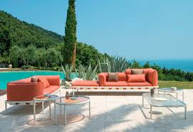 stylish outdoor furniture. When You Have Large Outdoor Spaces That Over Magnificent Views, An Sofa Set Like The Brafta Collection From Skyline Is Perfect To Give Everyone Stylish Furniture
