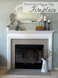 How to Paint a Fireplace | Stenciling, East coast and Tutorials