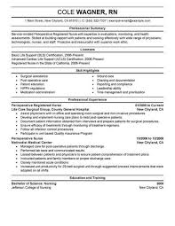 Nursing Skills For Resume Delectable Best Perioperative Nurse Resume Example From Professional Resume