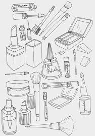 Small Picture makeup coloring page Illustration Pinterest Makeup Doodles