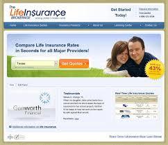 life insurance brokerage full custom website designcustom