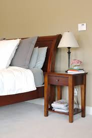 Small Bedroom Table Small Bed Side Tables With Minimalist Single Drawer As Storage And