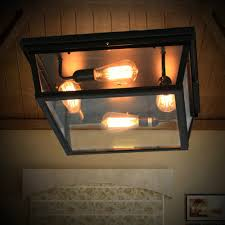 Arts And Crafts Kitchen Lighting Loft Square Outdoor Ceiling Lights Industrial Iron Art Craft