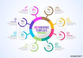Modern Chart Design Business Modern Infographics 8 Step Process Chart Design