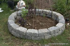 building a fall garden bed from stone