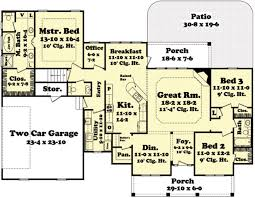 Modren Simple 3 Bedroom House Plans Country Style 1640 Square Foot Country Style Open Floor Plans