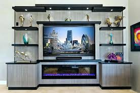 wall entertainment center with fireplace contemporary modern wall entertainment unit custom made center with fireplace wall