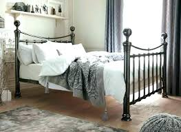wrought iron king bed