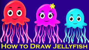 jellyfish drawing for kids. Contemporary Drawing Throughout Jellyfish Drawing For Kids A