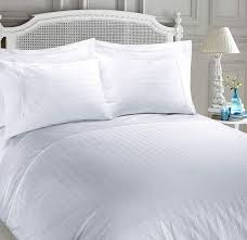 Nimsay Home Soft Hotel Collection 100 Egyptian Cotton Premium 400 Thread Count Duvet Quilt Cover Pack Dobby Striped Smart Stripe Satin Sateen