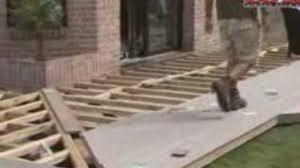 Pose D Une Terrasse Bois Avec Des Plots R Glables Vid O Dailymotion