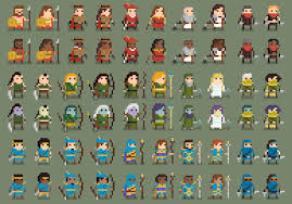 Pixel Art Game Character Design The Legend Of The Holy Pixel Sprites Pixel Art Games