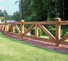 wooden farm fence. Ranch Style Wood Fence Designs Wooden Fences, Farm Farmhouse Fence, Design