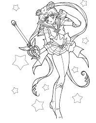 Small Picture Sailor Moon Carries A Magic Wand Coloring Pages sailor moon