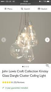 john lewis retro 7 bulb pendant light fitting