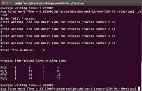 Round Robin Scheduling Program In C The Crazy Programmer
