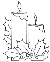 christmas candles coloring pages. Modren Pages Christmas Candles Coloring Page And Candles Coloring Pages S